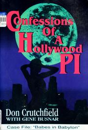 Cover of: Confessions of a Hollywood P.I. | Don Crutchfield