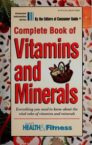 Cover of: Complete book of vitamins and minerals | Arline McDonald