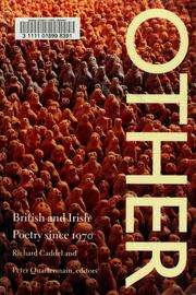 Cover of: Other | Richard Caddel and Peter Quartermain, editors.