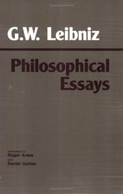 Cover of: Philosophical essays