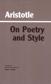 Cover of: On poetry and style |
