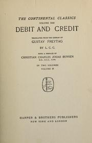 Cover of: Debit and credit | Gustav Freytag