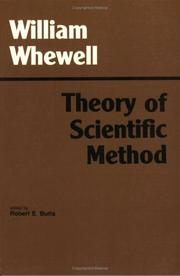 Cover of: Theory of scientific method
