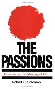The passions by Robert C. Solomon