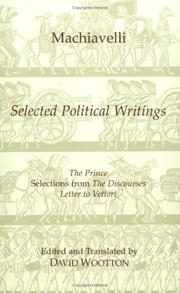 Cover of: Selected political writings