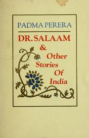 Cover of: Dr. Salaam & other stories of India | Padma Hejmadi