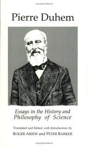 Cover of: Essays in the history and philosophy of science