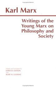 Cover of: Writings of the young Marx on philosophy and society
