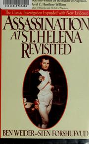 Cover of: Assassination at St. Helena revisited | Ben Weider