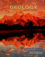 Cover of: Essentials of geology | Frederick K. Lutgens