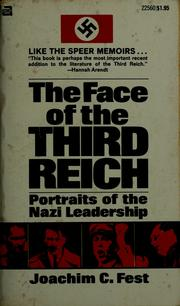 Cover of: The Face of the Third Reich by Joachim Fest