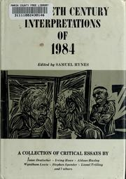 Twentieth Century Interpretations of 1984 by Samuel Lynn Hynes