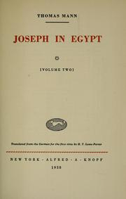 Cover of: Joseph in Egypt