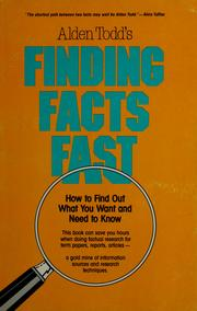 Cover of: Finding facts fast | A. L. Todd