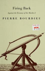Cover of: Firing back | Pierre Bourdieu