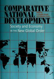 Cover of: Comparative national development | edited by A. Douglas Kincaid and Alejandro Portes.
