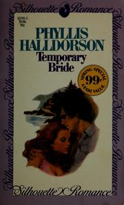 Cover of: Temporary bride by Phyllis Halldorson