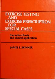 Cover of: Exercise testing and exercise prescription for special cases |