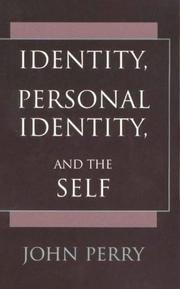 Cover of: Identity, Personal Identity, and the Self | John Perry