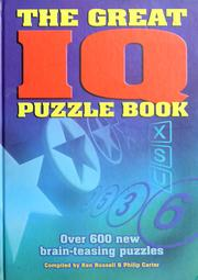 Cover of: The great IQ puzzle book | Kenneth A Russell