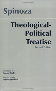 Cover of: Theological-Political Treatise