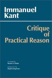 Cover of: Critique of Practical Reason