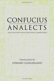 Cover of: Confucius Analects | Confucius
