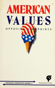Cover of: American values |