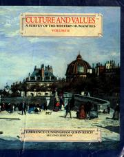Cover of: Culture and values by Lawrence Cunningham