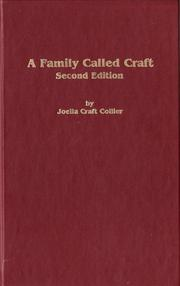 A family called Craft by Joella Craft Collier