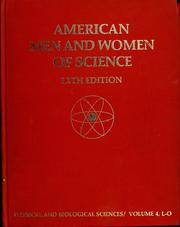 Cover of: American men and women of science by Jaques Cattell Press