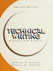 Cover of: Technical writing | Sharon J. Gerson