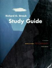 Cover of: Study guide | Richard O. Straub