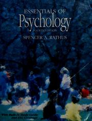 Cover of: Essentials of psychology | Spencer A. Rathus