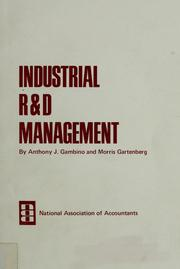 Cover of: Industrial R & D management | Anthony Joseph Gambino