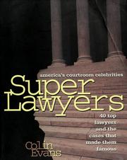 Cover of: Super lawyers | Evans, Colin