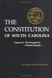 Cover of: The Constitution of South Carolina