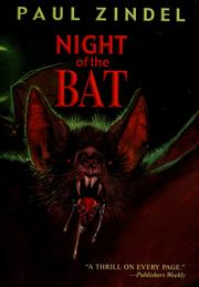 Cover of: Night of the bat | Paul Zindel