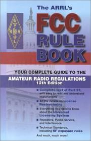 Cover of: The Arrl's Fcc Rule Book