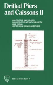 Cover of: Drilled Piers and Caissons II | Clyde N. Baker