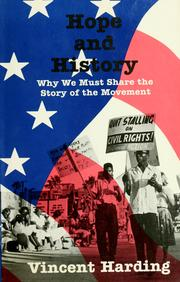 Cover of: Hope and history | Vincent Harding