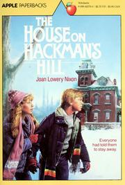 Cover of: The House On Hackman's Hill | Joan Lowery Nixon