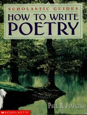 Cover of: How to write poetry | Paul B. Janeczko