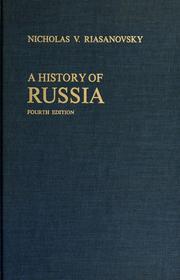 a history of russia riasanovsky pdf