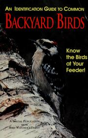 Cover of: An identification guide to common backyard birds | Thompson, Bill III