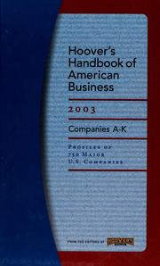 Cover of: Hoover's handbook of American business 2003 - Vol1 & 2 |