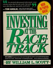Cover of: Investing at the racetrack by Joseph E. Finley