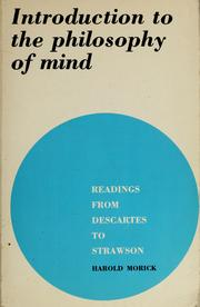 Introduction to the philosophy of mind