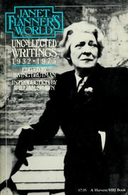 Cover of: Janet Flanner's world | Janet Flanner