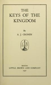 Cover of: The keys of the kingdom | A. J. Cronin